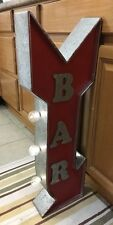 Bar Light Arrow Sign Double Sided Flange Vintage Style Man Cave Garage Pub Beer