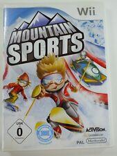!!! NINTENDO Wii SPIEL Mountain Sports, gebraucht aber GUT !!!