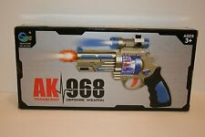 AK968 Kids Flashing LED Light up & Sound effect Space Pistol Gun Boy Gun Toy