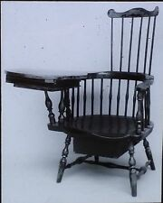 Early American Windsor Writing Chair, Magic Lantern Glass Slide