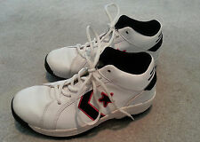 Men's/Boy's Converse All Star Leather Basketball Shoes White/Black/Red, 5,