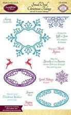 JUSTRITE CLEAR Rubber Stamps SMALL OVAL CHRISTMAS TIDINGS CR-05098