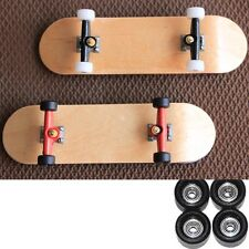 Lot 2 Pcs Bearing Wheels Wooden Maple Deck Fingerboard Skateboards 96mm