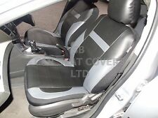 i - TO FIT AN AUDI A4 CAR, SEAT COVERS, PVC LEATHER, BLACK / grey 59.99