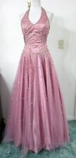NINA CANACCI S Ball Gown Dress Beaded Purple Evening Formal PROM PAGEANT