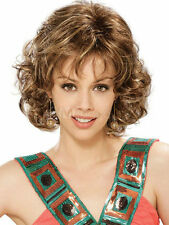 Pop Fashion sexy women ladies girl short Brown Blonde Curly Wigs + free wig cap8