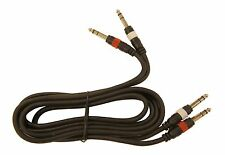 "6' foot TRS Stereo 1/4"" 6.3mm Male x 2 to 1/4"" Stereo Male x 2 Audio Patch Cable"