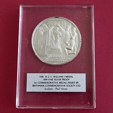 WILLIAM I 44mm BCS .999 FINE SILVER PROOF MEDAL