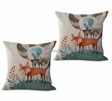 US SELLER- set of 2 contemporary cushion covers cushion cover fox animal