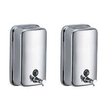 2x Dispensador de jabón Acero inoxidable pulido 500 ml con cierre Comercial