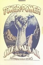 Tower of Power & Steamheat   at Armadillo HQ Austin   Orig. 1976 Concert Poster