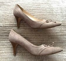 LK BENNETT kitten heels 36 UK3 beige grey suede court shoes low
