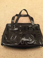 Authentic Chanel Black Patent Leather Shoulder Bag