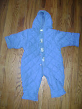 first impressions BABY BOY ONE PIECE BIB JACKET SNOWSUIT size 6/9 M BLUE BEARS