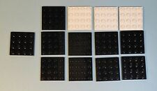Lego Parts 3031 Black & White 4x4 Plate LOT of 13   #LX289