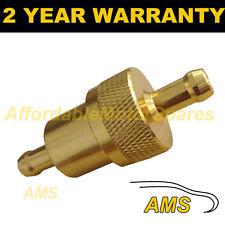 Oro 8mm Universal De Metal en línea de Filtro De Combustible Aluminio Anodizado