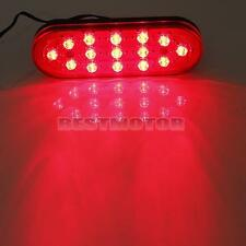 Universal Car Rear Strobe Tail Brake DRL Stop Light Fog Flashing Lamp Red 15 LED