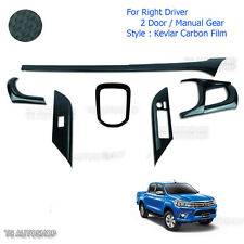 Blk Kevlar Console Air Panel Cover Fit Toyota Hilux Revo Sr5 2Dr Manual 15 2016