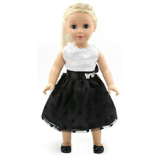 "Fits 18"" American Girl Madame Alexander Handmade Doll Clothes white dress MG039"