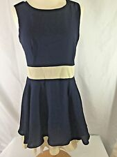 NWT Meng Fei Lo Dress - Blue & Cream - Size M