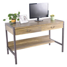 Wood Computer Desk Laptop Writing Table w/ 2 Drawers Home Office Furniture New