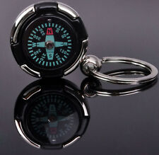 Mini Portable Keychain Ring Precise Compass Metal Plastic Accurate Outdoor Sport