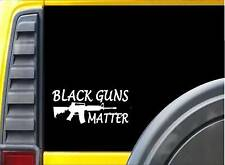 Black Guns Matter *J750* 8 inch Sticker Decal