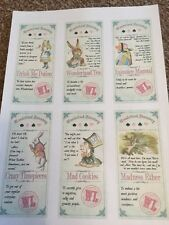 alice in wonderland style Apothecary sticky labels