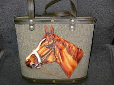 """""PADDED HORSE HEAD ON TEXTURED CANVAS"""" - TOTE STYLE PURSE - NWOT - GREAT GIFT"