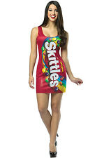 Brand New Skittles Candy Tank Dress Up Outfit Adult Costume