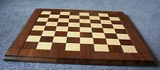 "Chessboard with 2.25""  squares and fancy profiled edges made by Drueke Games"