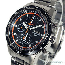 MEN'S SEIKO SPORTS 7T92 CHRONOGRAPH TACHYMETER GREY S/STEEL SNDF41P1