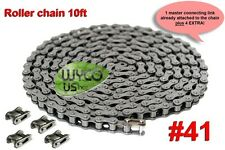 ROLLER CHAIN, #41, GO KARTS, SCOOTERS, GOKARTS, 10 FT., 5 CONNECTING LINKS TOTAL