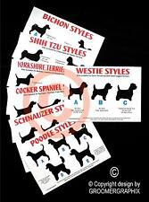 DOG GROOMING STYLE CHARTS *BEST SELLER* stationery by GROOMERGRAPHIX