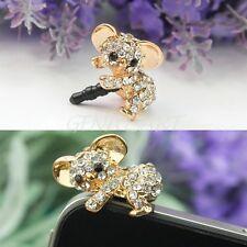 Lovely Korean Golden Koala 3.5mm Earphone Anti Dust Plug Stopper For iPhone 5