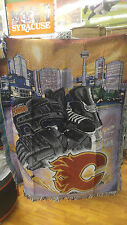 "New Northwest NHL Calgary Flames Large Tapestry Throw Blanket 48"" X 60"""