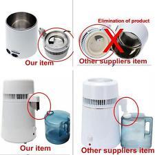 4L Dental Water Distiller Pure Purifier Filter Stainless Steel Filter/Cap
