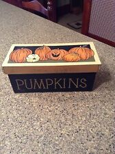 Primitive Halloween Painted Wooden Box