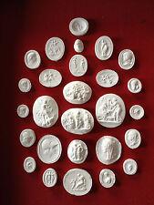 27 Grand Tour Cameos intaglios Gems Medallions plaster cameo seals Classic