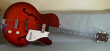 1959-67 Harmony Rocket H53 Monterey Red Sunburst 6-String Electric Guitar & Case