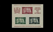 United Nations #38 Souvenir Sheet - Second Printing w/correction Very Fine MNH