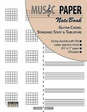 Music Paper Notebook - Guitar Chord, Standard Staff and Tablature by Ashkan M...