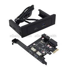 """2 porte USB 3.0 5.25"""" CDROM Bay Pannello frontale con NEC USB PCI-E Express Card"""