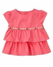 Gymboree NWT Tea For Two Pink Tier Ruffle Woven Shirt Top 12-18 months $25
