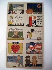 Vintage Miniature Holiday Post Cards Includes 10 Cards - Mullco Toys N.Y. *