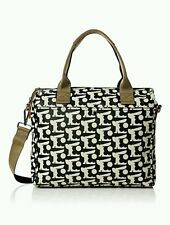 Orla Kiely best black Zip Messenger Bag bunny print brand New with tags