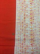 Couette 100% coton tissu par 1/2 mtr benartex sous le chapiteau cirque Fun Rouge