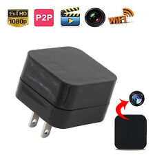 1080P WIFI Security Mini SPY Hidden Wall Charger IP USB Camera Adapter Plug Cam