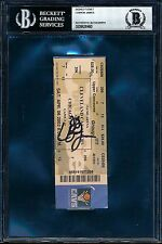 2002 LeBron James Signed Auto Ticket Rookie BGS BAS BECKETT AUTHENTICATION