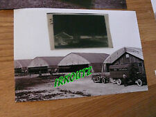 RARE NEGATIF +PHOTO DIVISION FARMAN HANGAR WWI 14/18  AVION DE CHASSE